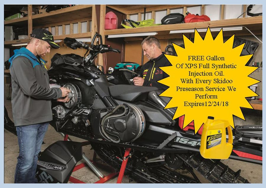 free oil with ski-doo offer