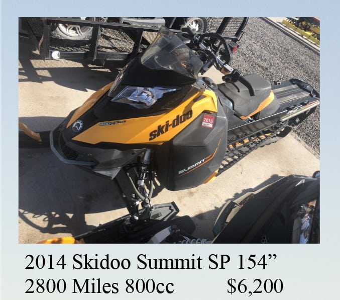 2014 skidoo summit for sale