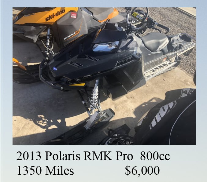 2013 Polaris RMK Pro for slae