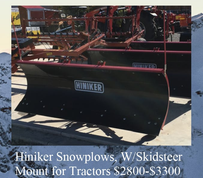 used hiniker snowplows